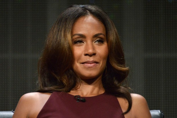 "Jada Pinkett Smith speaks on stage during the ""Gotham"" panel at the The FOX 2014 Summer TCA held at the Beverly Hilton Hotel on Sunday, July 20, 2014, in Beverly Hills, Calif. (Photo by Richard Shotwell/Invision/AP)"