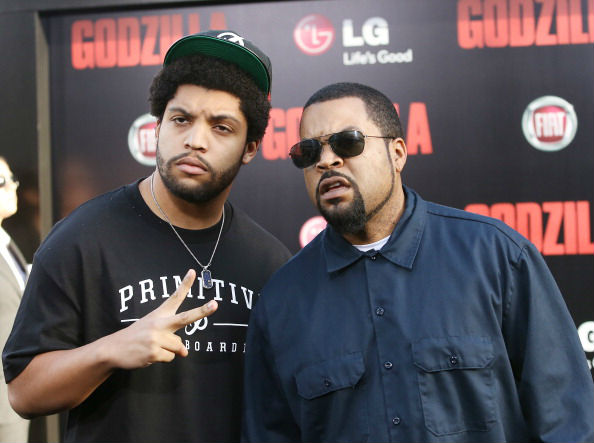 LIKE FATHER, LIKE SON: Actor O'shea Jackson played his father, Ice Cube (pictured right) in the N.W.A biopic, Straight Outta Compton