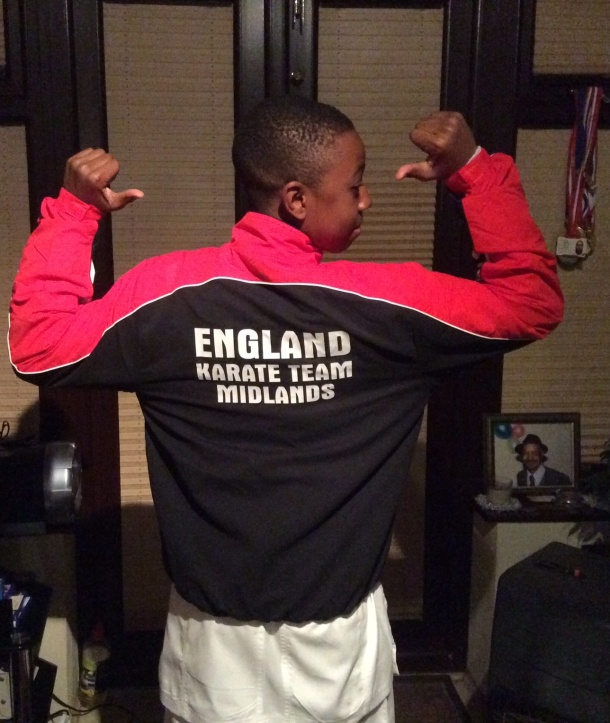 TEAM ENGLAND: James models his kit