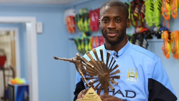 MAKE MINE A DOUBLE: Yaya with the same award in 2013