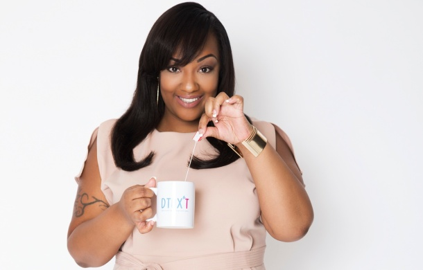 TASTY TEAS: Entrepreneur Dionne James with a cup of DTOX'T