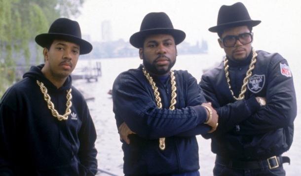 """HONOURED: Run DMC (from left) Rev Run, Jam Master Jay and Darryl """"DMC"""" McDaniels"""