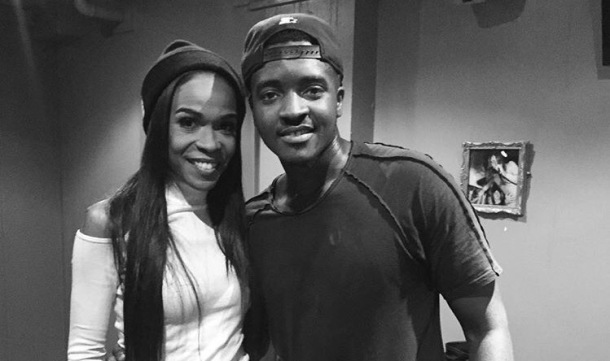 SURPRISE PERFORMANCE: Guvna B with Michelle Williams backstage at his January 2 concert