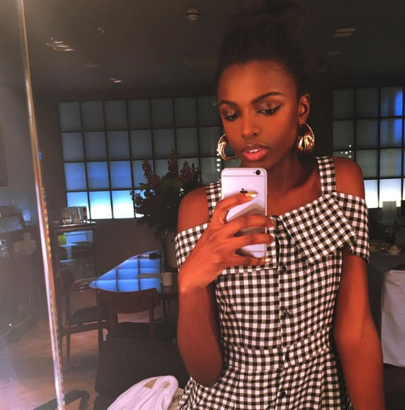 BEHIND THE SCENES: Leomie posted this picture on the set of her Sunday Times Style shoot today (Jan 28)