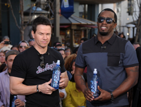 CHARITABLE CELEBS: P Diddy and Mark Wahlberg