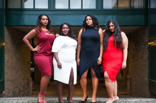 CELEBRATING CURVES: Women model Nubian Skin's plus-size range