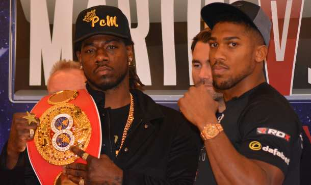 HOT TICKET: Charles Martin and Anthony Joshua [PIC CREDIT: Trevor Raymond]