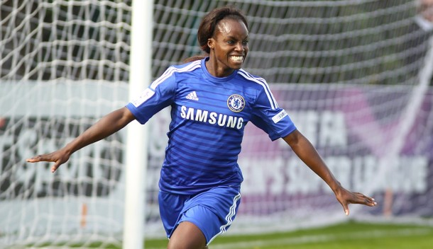 UP FOR TOP AWARD: Chelsea's Eniola Aluko