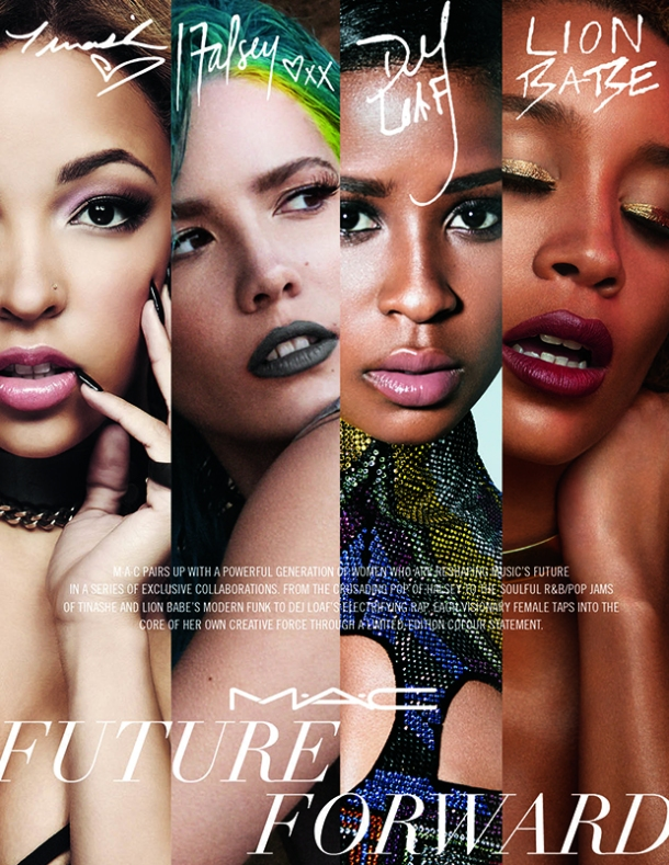 FUTURE FORWARD: The Mac campaign features Tinashe and an array of new stars making waves