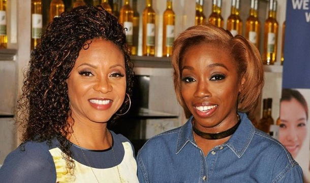 HONOURED: Estelle with MC Lyte