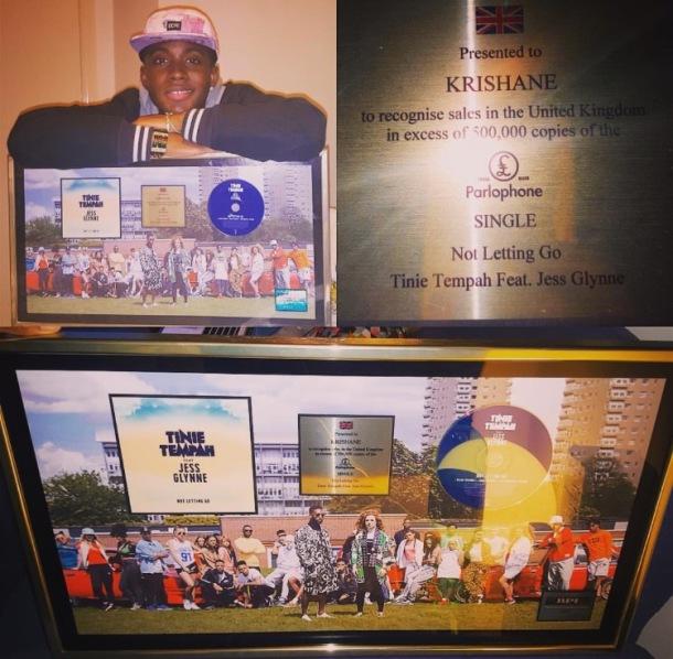 CELEBRATION: Krishane with his plaque