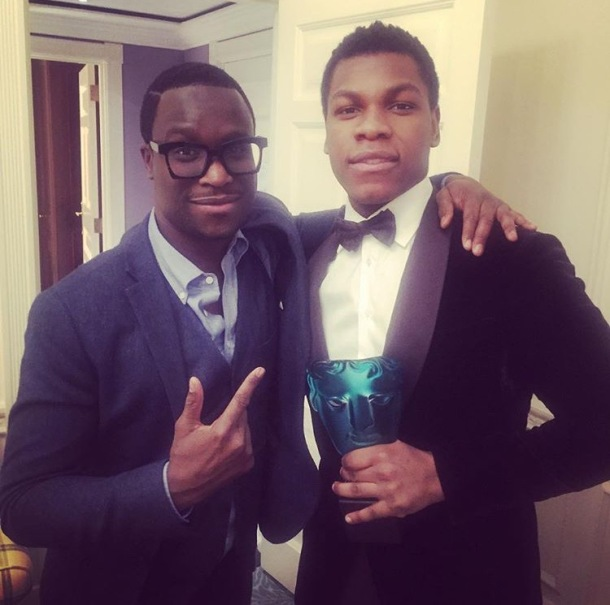 BLACK EXCELLENCE: Femi Oguns and John Boyega at the BAFTAs last weekend