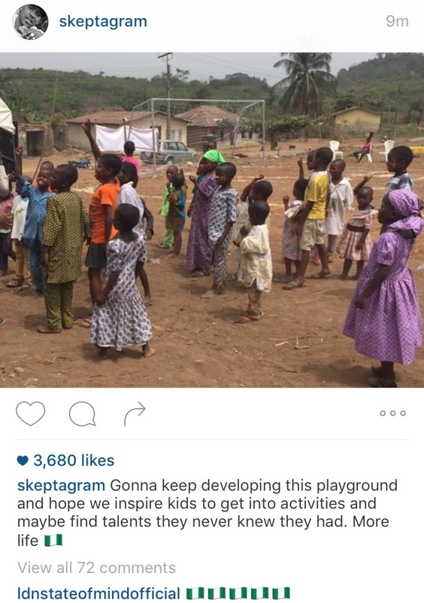 HOPE FOR THE FUTURE: A picture of Skepta's development in Nigeria