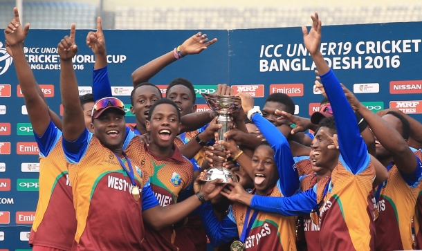 WE ARE THE CHAMPIONS: The triumphant West Indies under-19 squad
