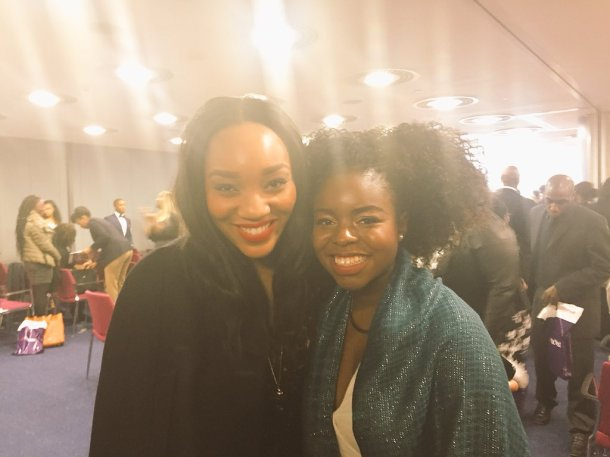 BLACK GIRLS ROCK: Hayley with BBC's Apprentice runner-up and entrepreneur, Bianca Miller
