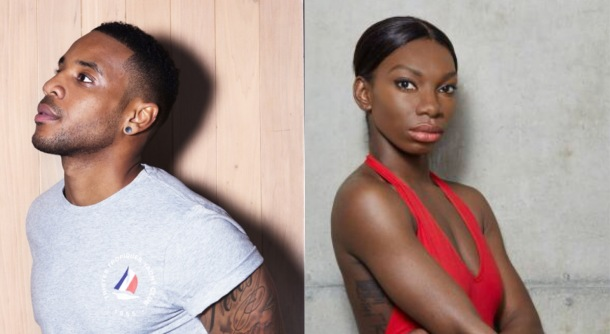 WINNING: Reggie Yates and Michaela Coel
