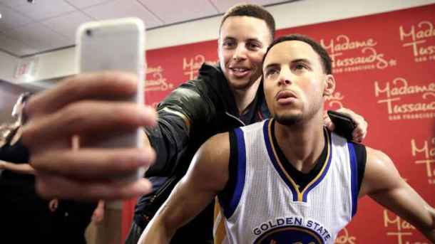IMMORTALISED: Stephen Curry with his Madame Tussauds waxwork