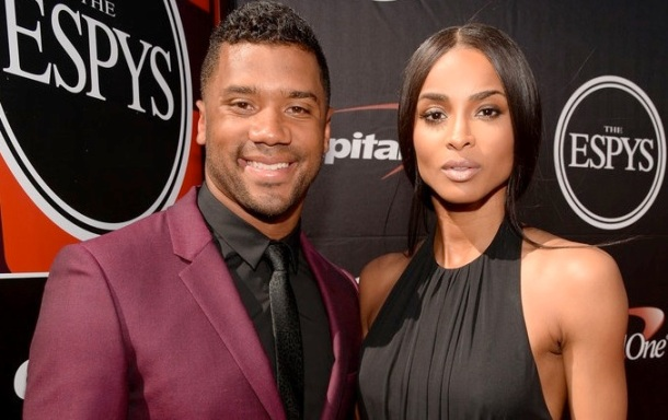 CLOTHING LINE: Rusell Wilson pictured here with girlfriend, singer Ciara