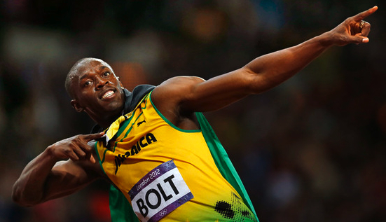 HIGH PRAISE: Usain Bolt
