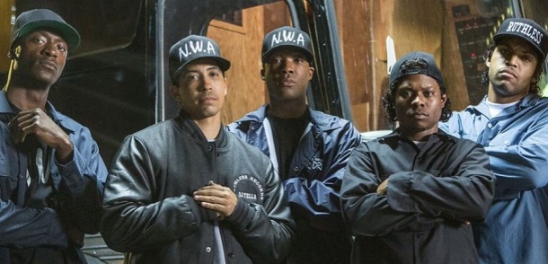 WINNERS: The cast of Straight Outta Compton