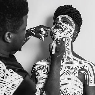 WORK OF ART: Laolu shows off his skill