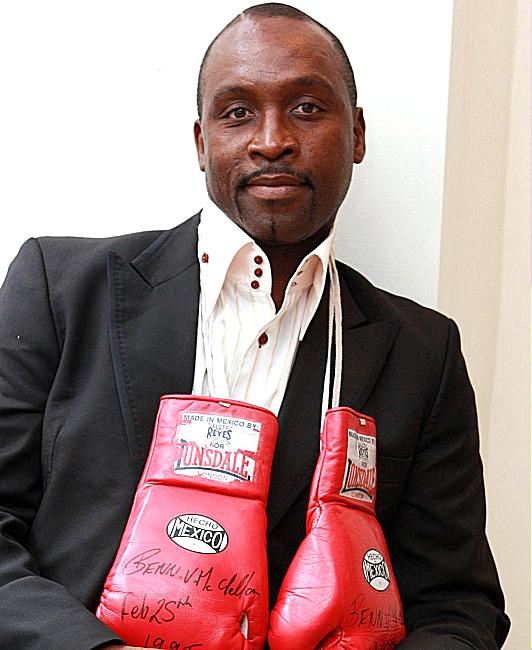 LIKE FATHER, LIKE SON: Nigel Benn