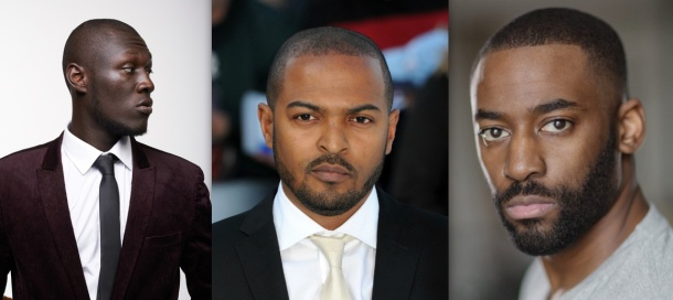 COMING SOON: Noel Clarke (centre) with the Brotherhood cast Stormzy and Ashley Thomas