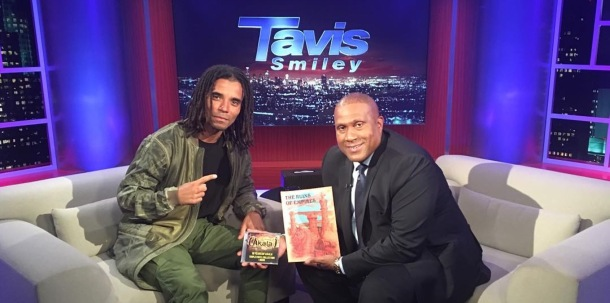 DEBUT: Akala with US talk show host Tavis Smiley