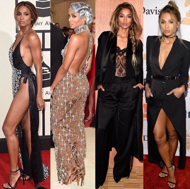 READY FOR THE RUNWAY: Ciara made the announcement on social media with this selection of pictures