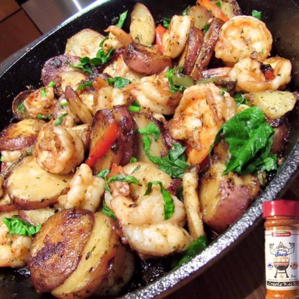 TASTY: One of Chaz' famed recipes made with his SoulFit Seasoning