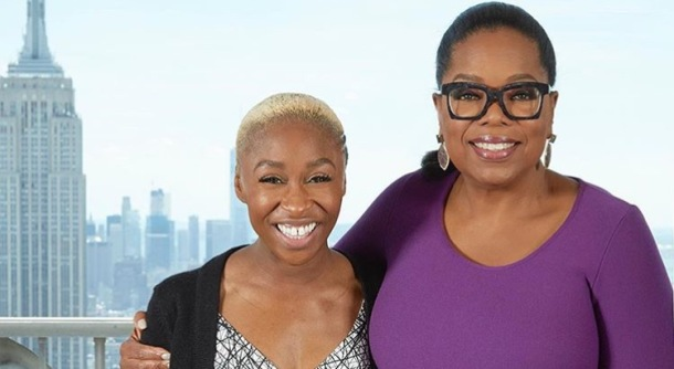 CELEBRATION: Cynthia Erivo lunches with Oprah