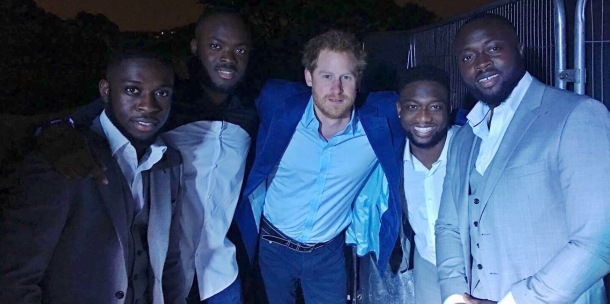 ROYAL APPROVAL: Prince Harry with The Compozers