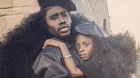 DADDY'S GIRL: Model Benny Harlem with daughter Jaxyn