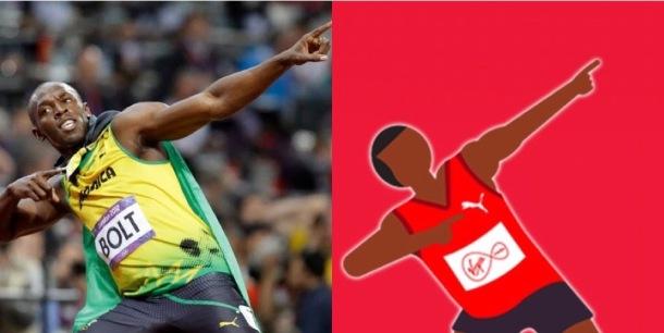 CELEBRATED: Usain Bolt