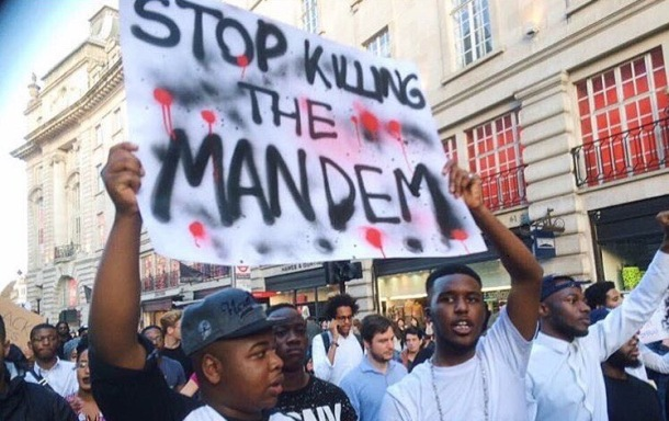 STOP KILLING THE MAN DEM: Hundreds of Londoners marched through the capital to protest police killings of black men