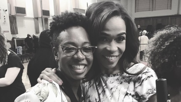 PERFORMANCE: British saxophist YolanDa Brown and Destiny's Child's Michelle Williams in rehearsal for BBC Proms