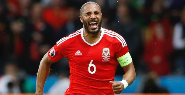 VICTORIOUS: Wales captain Ashley Williams