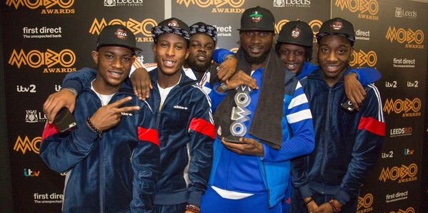 TEAM UK: Section Boyz collecting their MOBO Award last year