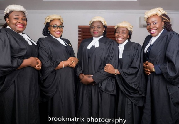 MAKINNG HISTORY: The five sisters have each graduated from law school