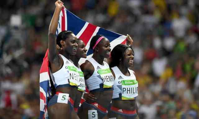 WINNERS: Team GB's women