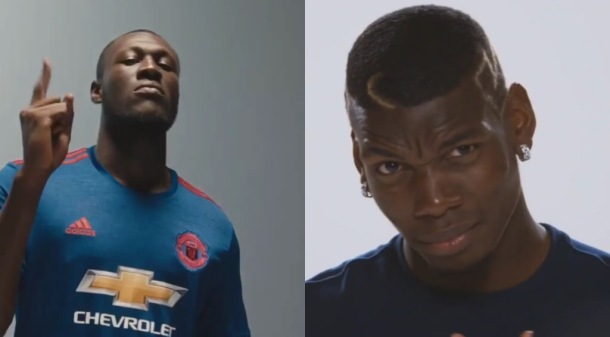 YOUNG KINGS: Stormzy and Paul Pogba
