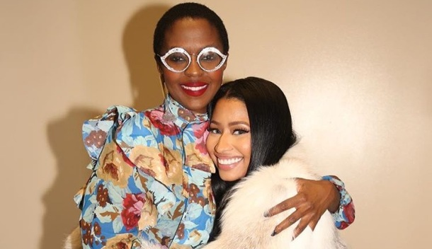 INSPIRATION: Rapper Nicki Minaj (right) with former Fugees star, Lauryn Hill