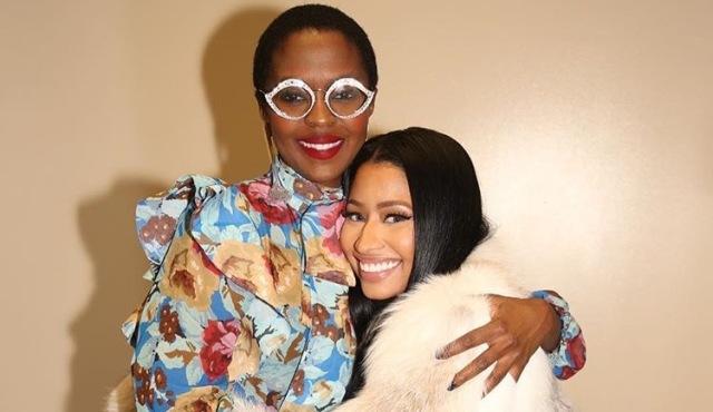 INSPIRATION: Rapper Nicki Minaj (right) with former Fugees star, Lauryn Hill