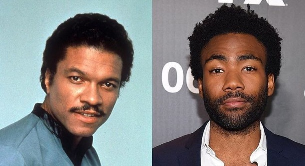 SMOOTH-TALKING: Lando Calrissian, who was played by Billy Dee Williams in The Empire Strikes Back and Return of the Jedi, will now be played by Donald Glover (right)