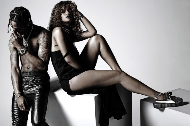 TOP CHOICE: Rihanna models her PUMA creepers