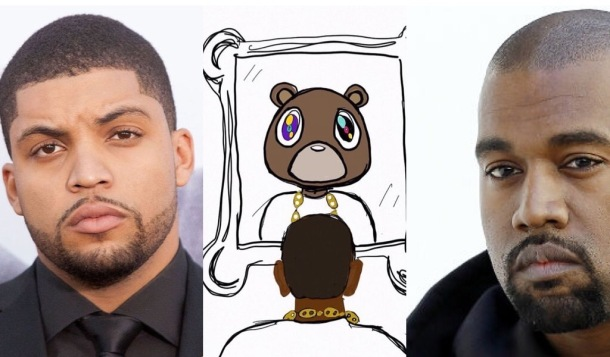 OPEN LETTER: (L-R) O'Shea Jackson, his artwork and Kanye West