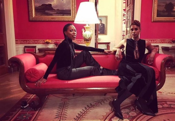HIGH PRAISE: Yvonne Orji and Issa Rae at The White House