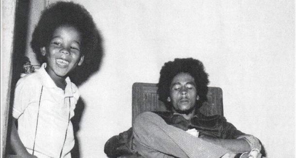 WISE WORDS: Reggae legend Bob Marley with son Ziggy