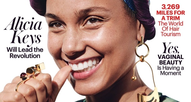 BAREFACED BEAUTY: Alicia Keys