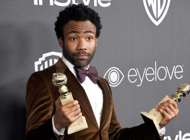 MAKE MINE A DOUBLE: Donald Glover at the 2017 Golden Globes